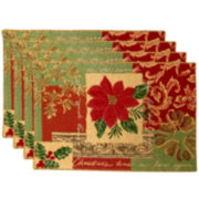 Park B. Smith® Poinsettia Collage Set of 4 Placemats