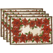 Park B. Smith® Poinsettia Foliage Set of 4 Placemats
