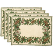 Park B. Smith® Season's Border Set of 4 Placemats