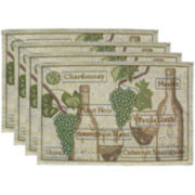 Park B. Smith® Fruit of the Vine Set of 4 Placemats