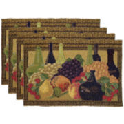 Park B. Smith® Wine Classics Set of 4 Placemats