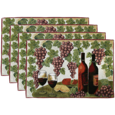 jcpenney.com | Park B. Smith® Wine Table Set of 4 Placemats