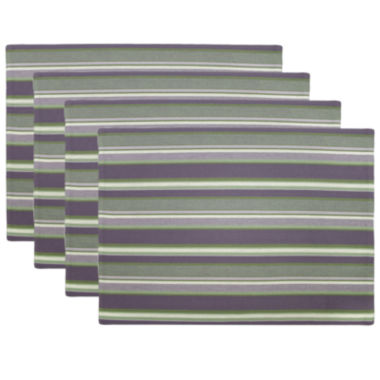 jcpenney.com | Park B. Smith® Kenswick Stripe Set of 4 Placemats