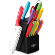 Oster® 14-pc. Colorful Knife Set