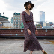 BELLE + SKY™ Long-Sleeve Maxi Dress