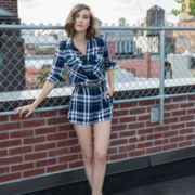 BELLE + SKY™ Plaid Romper