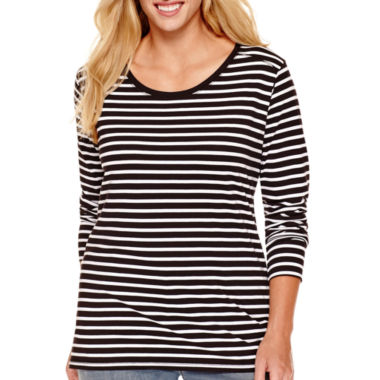jcpenney.com | a.n.a® Long-Sleeve Modal-Blend Essential T-Shirt - Plus
