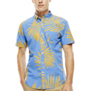 Arizona Short-Sleeve Tropical-Print Woven Shirt