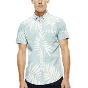 Arizona Short-Sleeve Tropical-Print Woven Shirt
