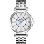 Bulova Womens Watch w/ Round Mother-of-Pearl Dial