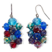 Hematite & Multicolor Bead Grapevine Earrings