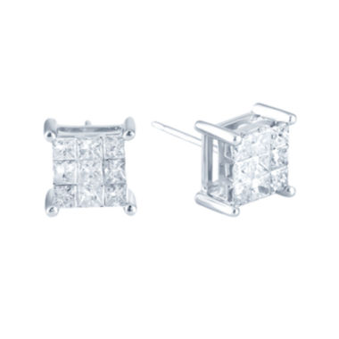 jcpenney.com | 1 CT. T.W. Princess Diamond Stud Earrings