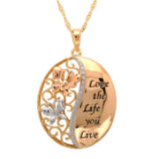 Diamond Accent Love the Life You Live Pendant