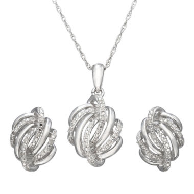 jcpenney.com | 1/10 CT. T.W. Diamond Love Knot Boxed Jewelry Set