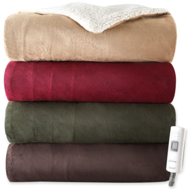 jcpenney.com | Sunbeam® Heated Sherpa Throw