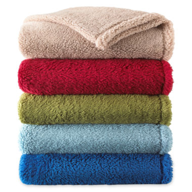 jcpenney.com | Sunbeam® Lofty Plush Throw