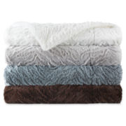 Royal Velvet® Carved Faux-Fur Throw