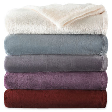 jcpenney.com | Royal Velvet® Silk Touch Blanket