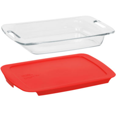 jcpenney.com | Pyrex® Easy Grab 3-qt. Baking Dish with Red Plastic Cover
