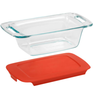jcpenney.com | Pyrex® Easy Grab 1½-qt. Loaf Dish with Red Plastic Cover