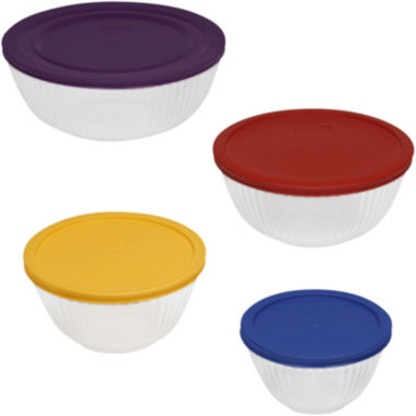 jcpenney.com | Pyrex® 8-pc. Sculptured Mixing Bowl Set