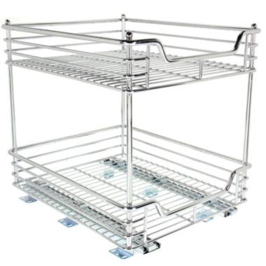 "jcpenney.com | Household Essentials® Glidez™ 14½"" Two-Tier Sliding Cabinet Organizer"