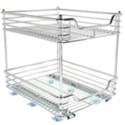 "Household Essentials® Glidez™ 14½"" Two-Tier Sliding Cabinet Organizer"