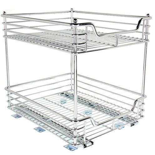 """Household Essentials® Glidez™ 14½"""" Two-Tier Sliding Cabinet Organizer"""