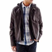 Levi's® Faux-Leather Racer Jacket