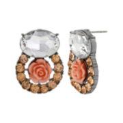 Bleu™ Peach Rose Earrings