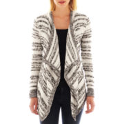 a.n.a® Long-Sleeve Striped Flyaway Cardigan - Tall