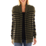 a.n.a® Long-Sleeve Striped Open Cardigan - Tall