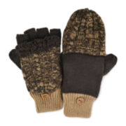 MUK LUKS® Cable Knit Colorblock Flip Gloves