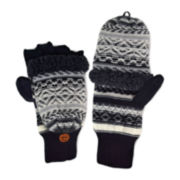 MUK LUKS® Fair Isle Fingerless Flip Top Gloves