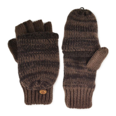 jcpenney.com | MUK LUKS® Marled Fingerless Flip Top Gloves