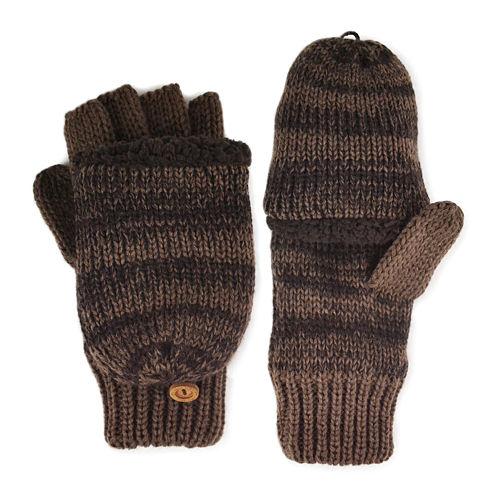 MUK LUKS® Marled Fingerless Flip Top Gloves