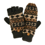 MUK LUKS® Chunky Knit Fair Isle Flip Gloves