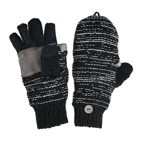 MUK LUKS® Marled Fingerless Flip Top Gloves