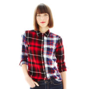 Joe Fresh™ Long-Sleeve Mixed Plaid Shirt