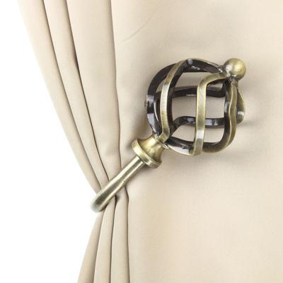 Rod Desyne Decorative Holdbacks with Twist Finials