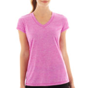 Xersion™ Short-Sleeve Striped Melange Tee