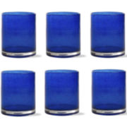 Bubble Glass Set of 6 Double Old-Fashioned Glasses