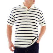 The Foundry Supply Co.™ Striped Piqué Polo–Big & Tall