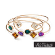 nicole by Nicole Miller® 4-pc. Multicolor Stone Cuff Bracelet Set