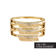 nicole by Nicole Miller® Crystal and Chain Fringe Bangle Bracelet