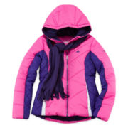 Pacific Trail Puffer Jacket and Scarf - Preschool Girls 4-6x
