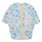 Arizona Lace-Inset Cocoon Cardigan - Girls 7-16 and Plus