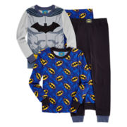 Batman 4-pc. Cotton Pajama Set - Boys 4-10