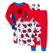 Spider-Man 4-pc. Cotton Pajama Set - Toddler Boys 2t-4t