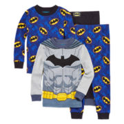 Batman 4-pc. Cotton Pajama Set - Toddler Boys 2t-4t